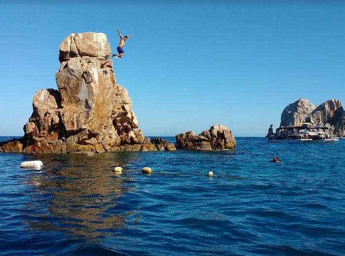 Snorkeling off Pelican Rock